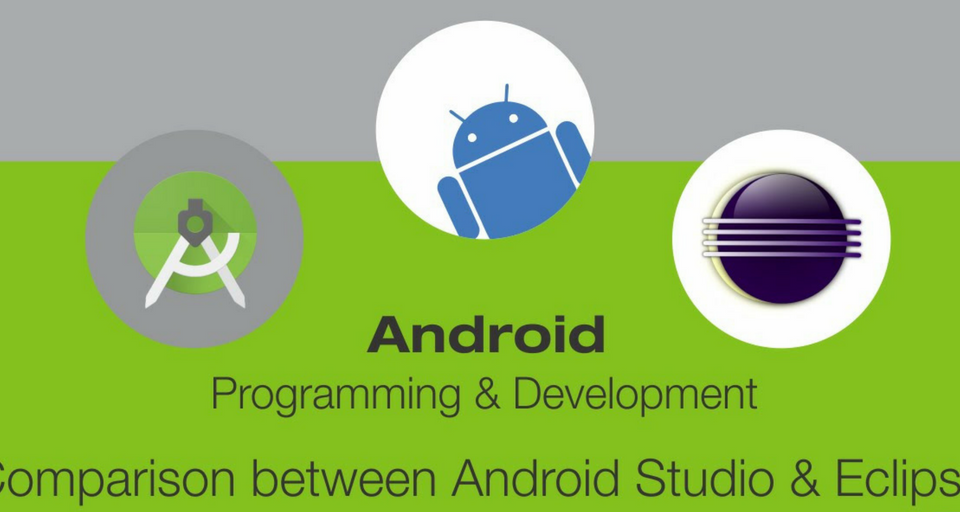 GOOGLE'S  ANDROID  STUDIO vs. ECLIPSE IDE